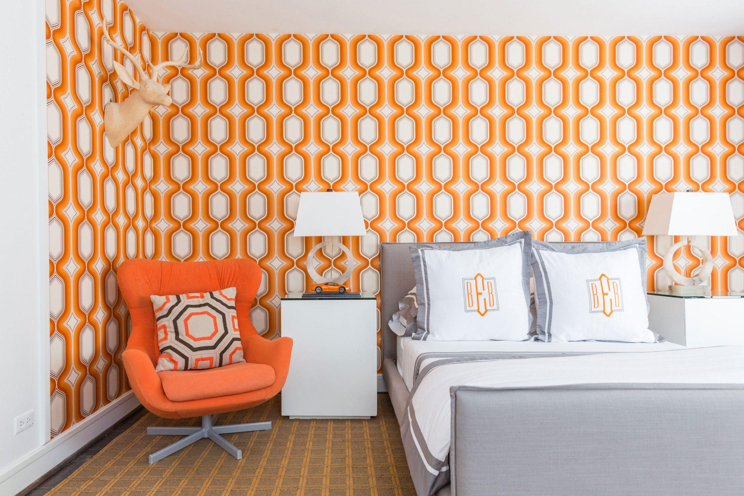 kids orange accented bedroom - Creative Tonic