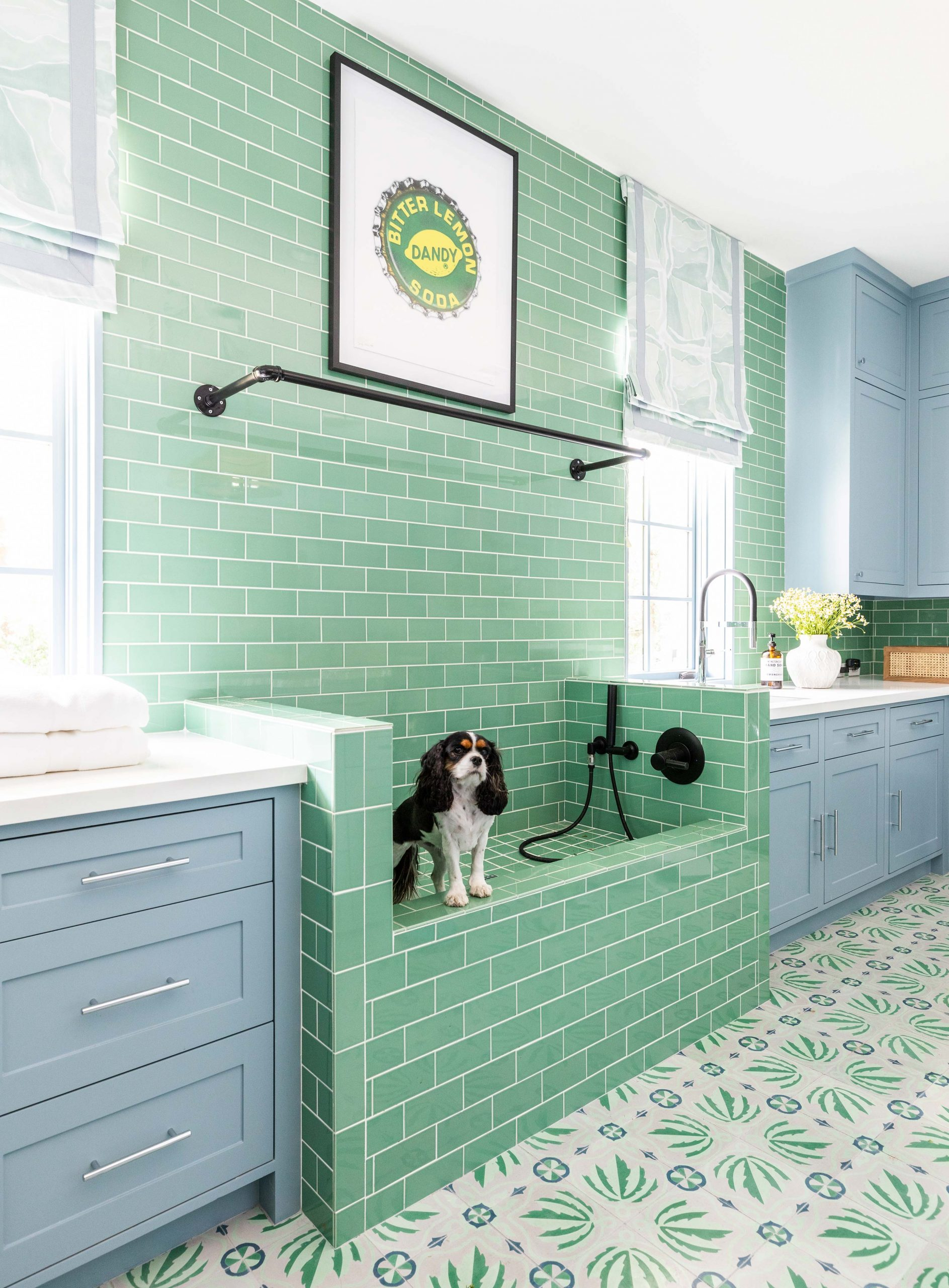 green and blue kitchen - Creative Tonic