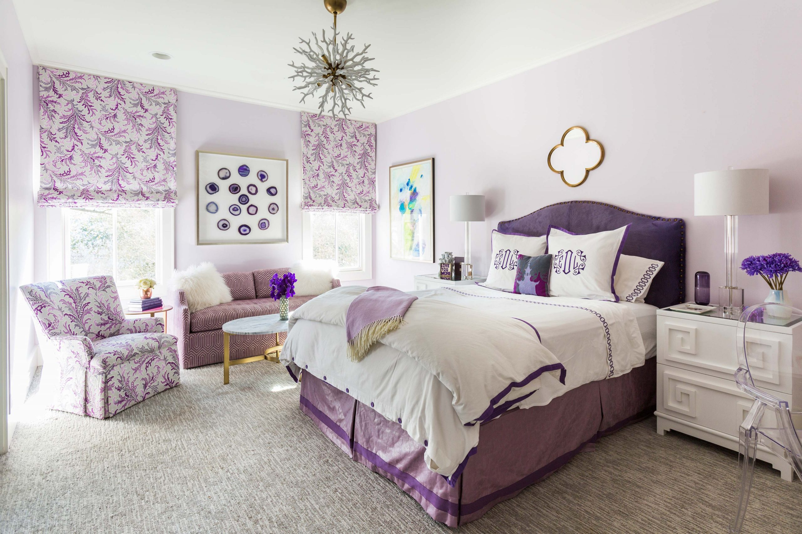kids purple and pink bedroom - Creative Tonic