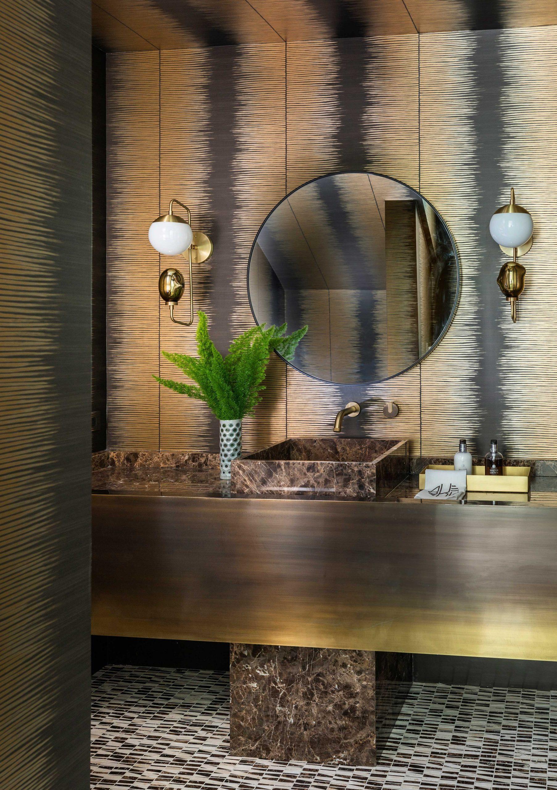 Black Gold Mod Bathroom Design Creative Tonic
