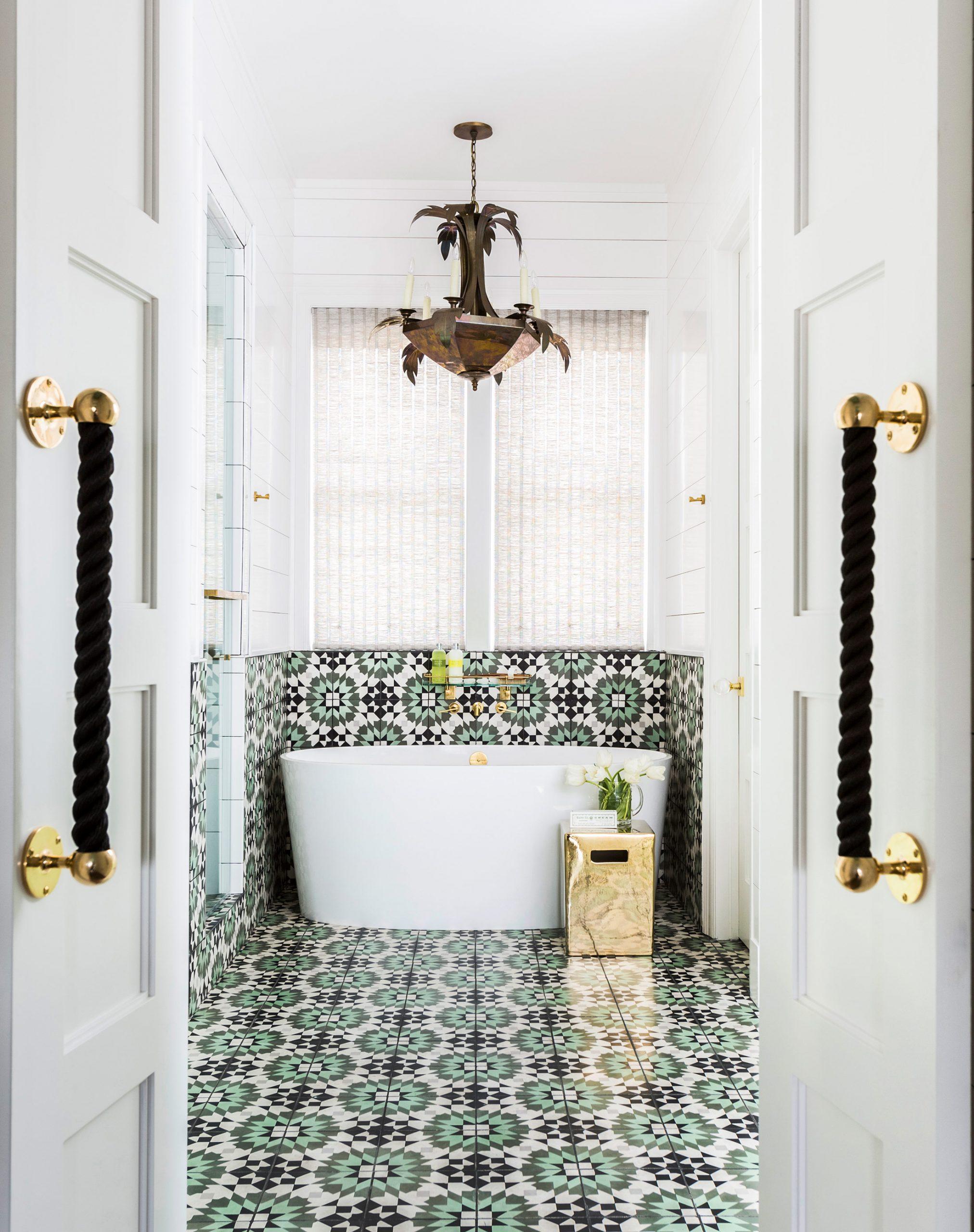 Pattern Green Gold Bathroom Creative Tonic
