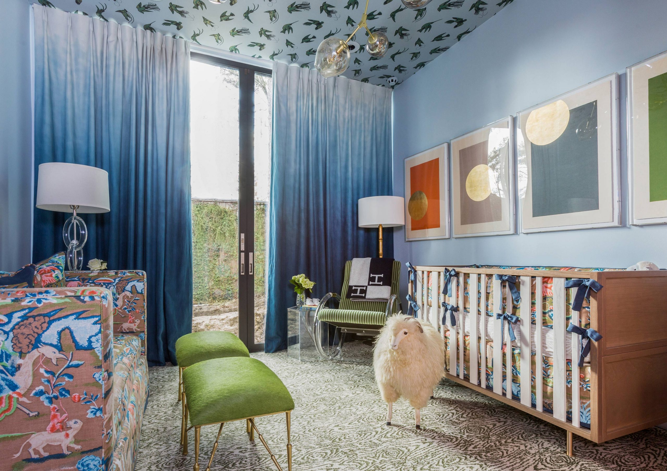 kids bedroom with blue accents - Creative Tonic
