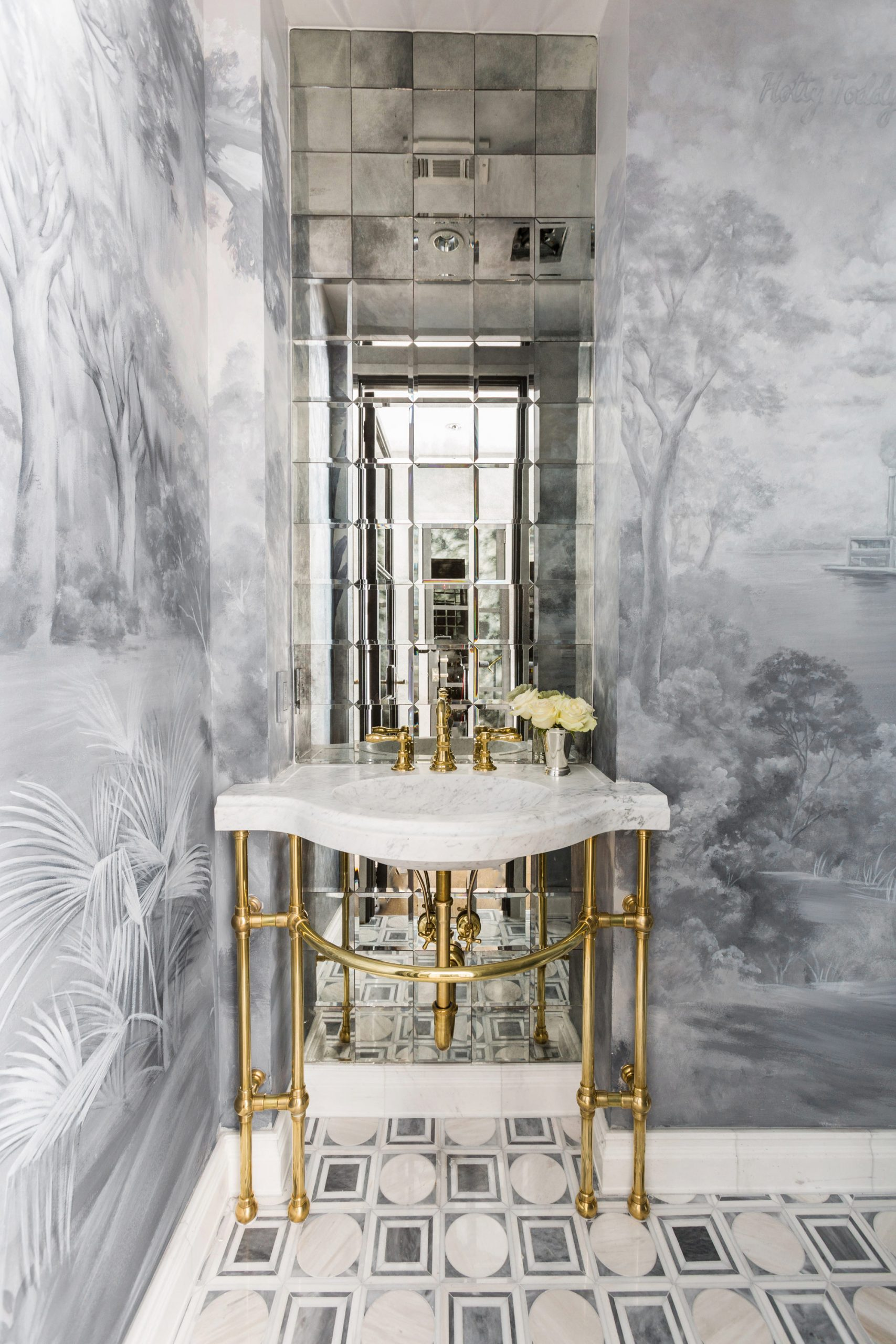 Wallpaper Bathroom Creative Tonic