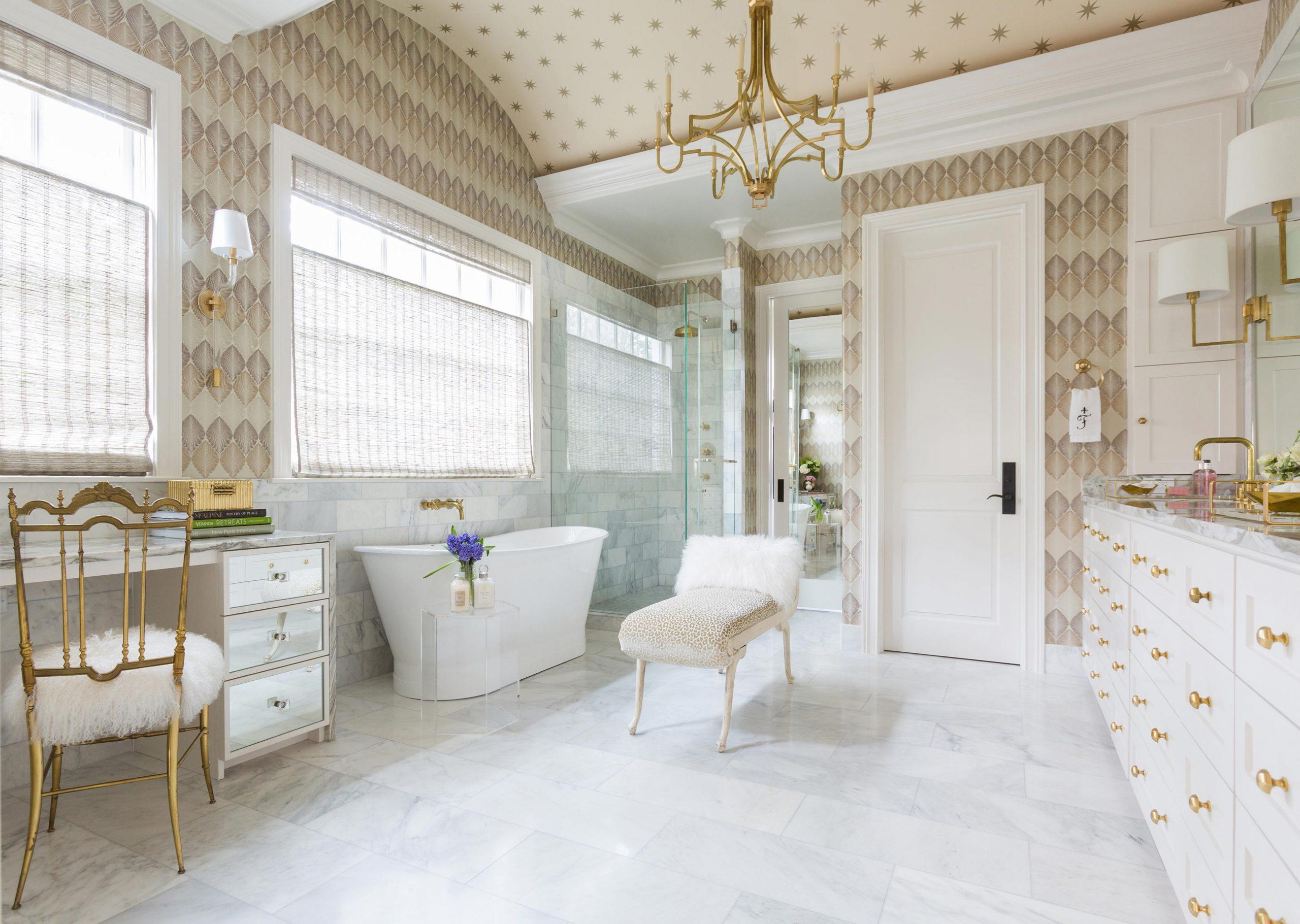 Bright Feminine Bathroom Creative Tonic Designs