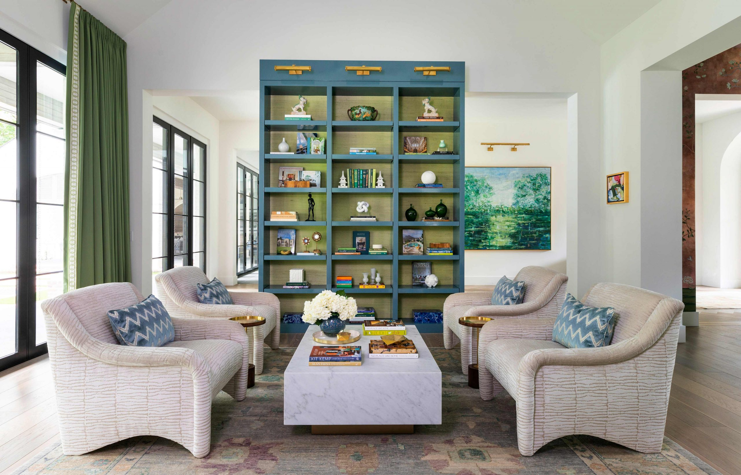 Custom book shelves living room creative tonic
