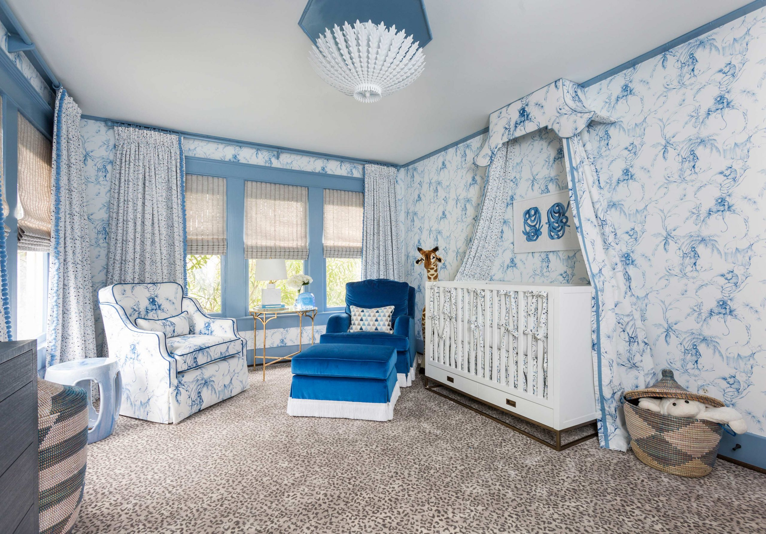blue and white baby's room - Creative Tonic