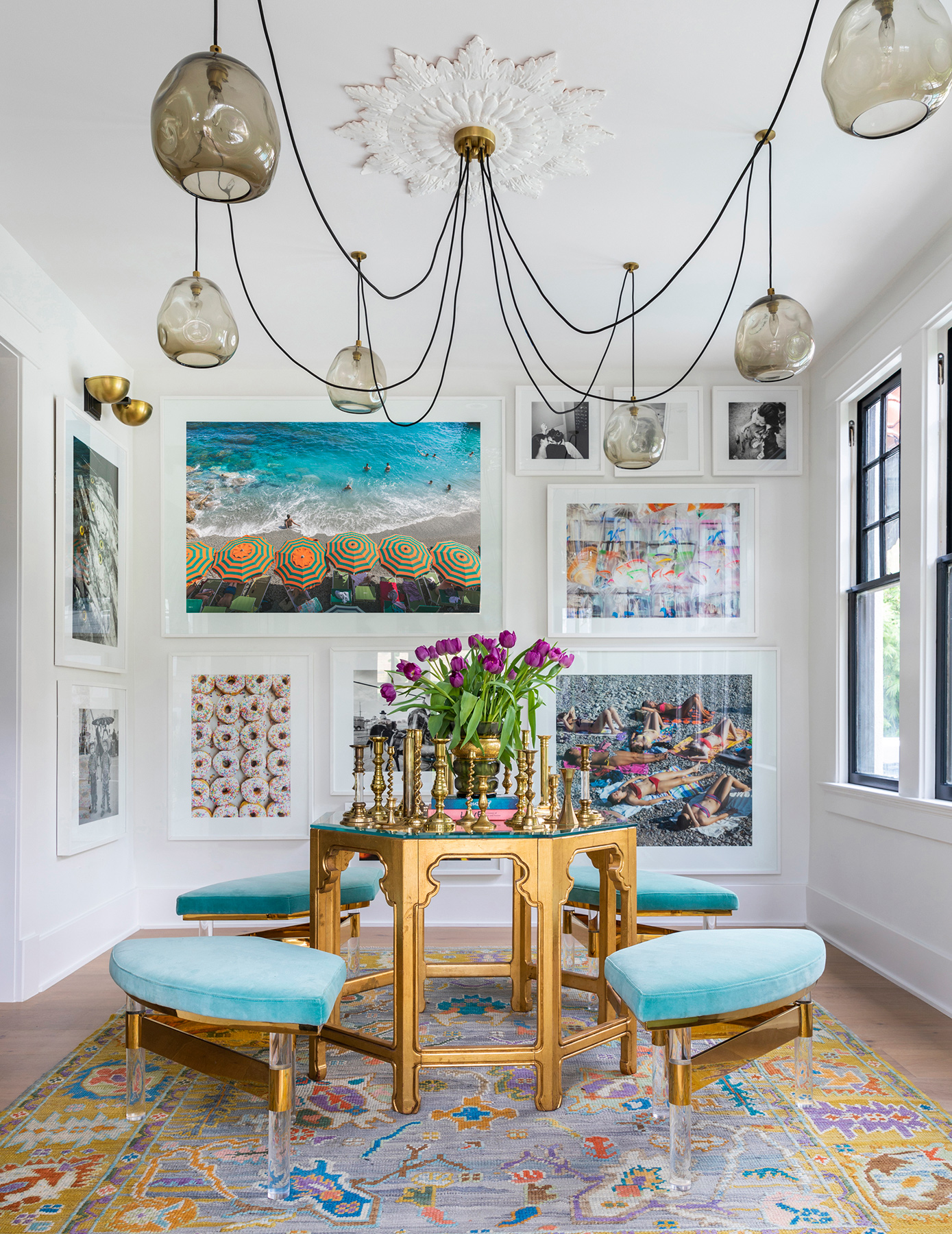 beautiful photography in luxury dining room - Creative Tonic