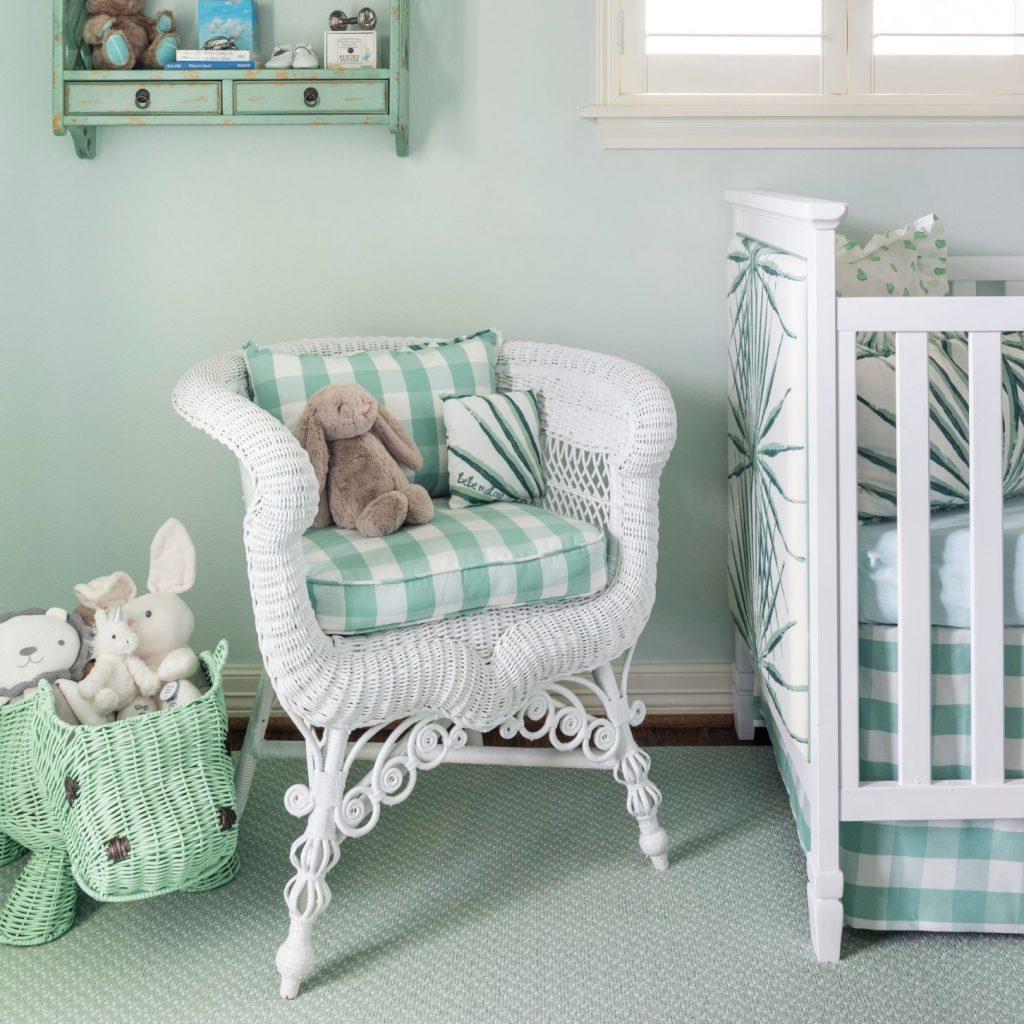 gingham nursery design